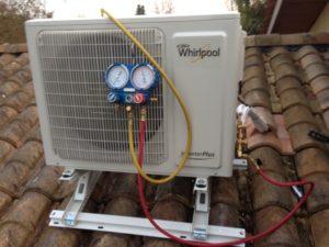 Photo réalisation de climatisation réversible split - whirlpool